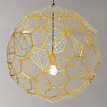 Buy Tom Dixon Etch Pendant, Large, Brass Online at johnlewis.com