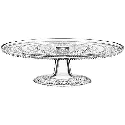 Iittala Kastehelmi Glass Cake Stand, Clear
