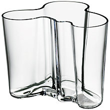 Buy Iittala Aalto Vase, Clear Online at johnlewis.com
