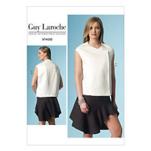 Buy Vogue Guy Laroche Women's Structured Top and Flounce Skirt Sewing Pattern, 1450 Online at johnlewis.com