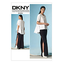 Buy Vogue DKNY Women's Ruffle Hem Blouse and Slit Maxi Skirt Sewing Pattern, 1454 Online at johnlewis.com