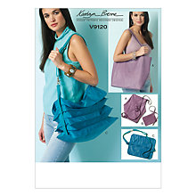 Buy Vogue Kathryn Brenne Shoulder Bags and Pouch Sewing Pattern, 9120, One Size Online at johnlewis.com