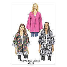 Buy Vogue Very Easy Women's Kimono Sewing Pattern, 9115 Online at johnlewis.com