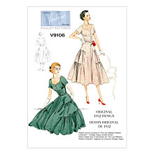 Buy Vogue Women's Vintage Dress and Belt Sewing Pattern, 9106 Online at johnlewis.com