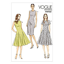 Buy Vogue Women's Tailored Knee Length Dress Sewing Pattern, 9102 Online at johnlewis.com