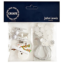 Buy John Lewis DIY Christmas Snowman Kit, Pack of 4 Online at johnlewis.com