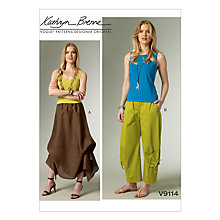 Buy Vogue Kathryn Brenne Women's Skirt and Trousers Sewing Pattern, 9114 Online at johnlewis.com