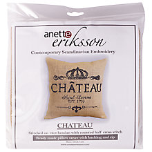 Buy Anette Eriksson Chateau Pillow Cover Embroidery Kit Online at johnlewis.com