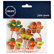 Buy John Lewis Christmas Mitten Wooden Toppers, Pack of 5 Online at johnlewis.com