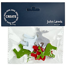 Buy John Lewis Felt Reindeer Stickers, Pack of 8 Online at johnlewis.com