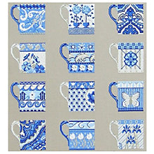 Buy Anette Eriksson Cups Wall Art Cross Stitch Kit, Blue Online at johnlewis.com