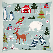 Buy Rico Ice Bear Cushion Embroidery Kit, Blue Online at johnlewis.com