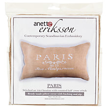 Buy Anette Eriksson Paris Pillow Cover Needlecraft Kit, Cream Online at johnlewis.com