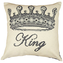 Buy Anette Eriksson King Pillow Cover Cross Stitch Kit, Cream Online at johnlewis.com