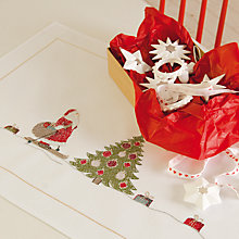 Buy Rico Santa Claus Table Runner Embroidery Kit, White Online at johnlewis.com