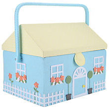 Buy John Lewis Townhouse Large Sewing Basket, Blue Online at johnlewis.com