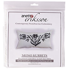 Buy Anette Eriksson Mono Kurbits Pillow Cover Needlecraft Kit, White/Black Online at johnlewis.com
