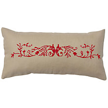 Buy Anette Eriksson Provence Pillow Cover Cross Stitch Kit, Cream/Red Online at johnlewis.com