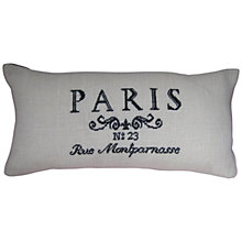 Buy Anette Eriksson Paris Pillow Cover Needlecraft Kit, White/Black Online at johnlewis.com