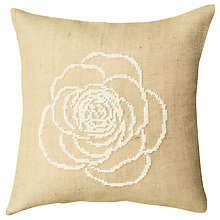 Buy Anette Eriksson Rose Pillow Cover Half Cross Stitch Kit, Cream Online at johnlewis.com