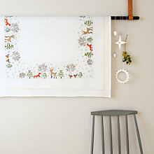 Buy Rico Winter Forest Table Cloth Embroidery Kit, Neutral Online at johnlewis.com
