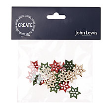 Buy John Lewis Christmas Stars Toppers, Pack of 18 Online at johnlewis.com
