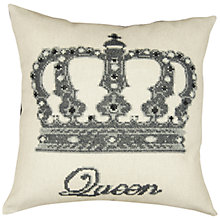 Buy Anette Eriksson Queen Cushion Cover Cross Stitch Kit, Cream Online at johnlewis.com