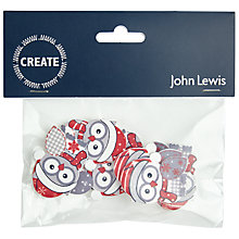 Buy John Lewis Wooden Owl Stickers, Pack of 8 Online at johnlewis.com
