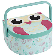 Buy John Lewis Owl D-Shaped Sewing Basket, Mint Online at johnlewis.com