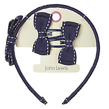 Buy John Lewis Girls' Trim Alice Band and Bows, Pack of 3 Online at johnlewis.com