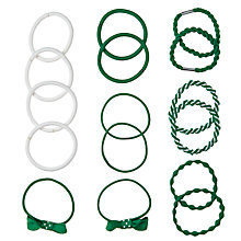 Buy John Lewis Printed Hair Bands, Pack of 16 Online at johnlewis.com