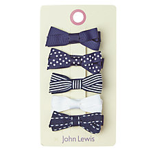 Buy John Lewis Mixed Bow Clips, Pack of 5 Online at johnlewis.com