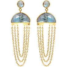 Buy Auren 18ct Gold Plated Labradorite Cocktail Earrings, Gold Online at johnlewis.com