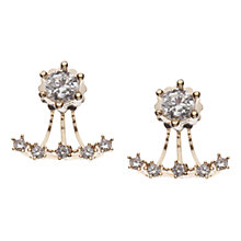 Buy Orelia Cubic Zirconia Front Back Earrings, Crystal Online at johnlewis.com