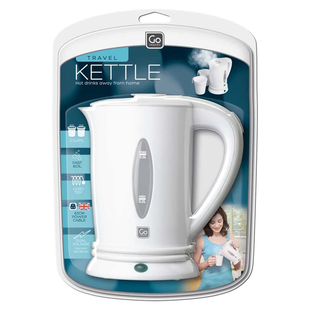 Go Travel Go Travel 690 UK Travel Kettle, White