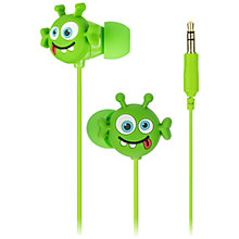 Buy KitSound Children's Noise Limiting In-Ear Headphones, Alien Online at johnlewis.com