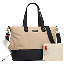 Buy Storksak Tote Changing Bag, Champange/Black Online at johnlewis.com