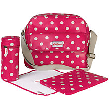 Buy Cath Kidston Polka Dot Zip Changing Bag, Raspberry Online at johnlewis.com