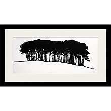 Buy Clare Cutts - Hilltop Trees, Original Screenprint, 38 x 68cm Online at johnlewis.com