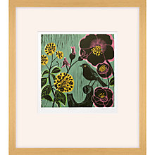 Buy Kate Heiss - Hellebore Linocut Framed Print, 54 x 61cm Online at johnlewis.com