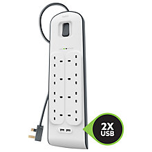 Buy Belkin 8 Outlet Surge Protection Extension Cable Online at johnlewis.com