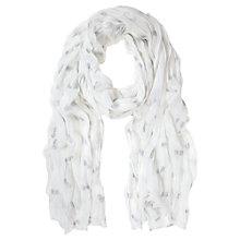 Buy Mint Velvet Poppy Print Scarf, Ivory Online at johnlewis.com