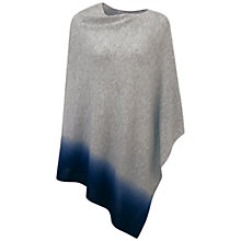 Buy Pure Collection Cashmere Dip Dye Poncho, Heather Grey Online at johnlewis.com
