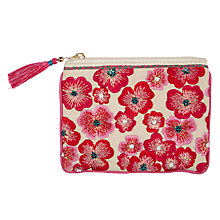 Buy John Lewis Sari Emblem Small Pink Floral Pouch Online at johnlewis.com