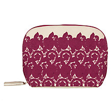 Buy John Lewis Sari Emblem Large Pink Toiletries Bag Online at johnlewis.com
