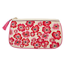 Buy John Lewis Large Floral Embroidered Pouch, Sari Emblem Online at johnlewis.com