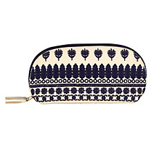 Buy John Lewis Small Navy Sari Emblem Pouch Online at johnlewis.com