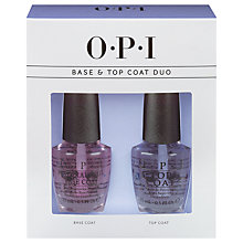 Buy OPI Nails Base and Top Coat Set Online at johnlewis.com
