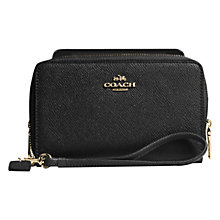 Buy Coach Double Zip Leather Phone Wallet Online at johnlewis.com