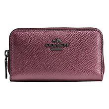 Buy Coach Petite Double Zip Coin Leather Purse Online at johnlewis.com